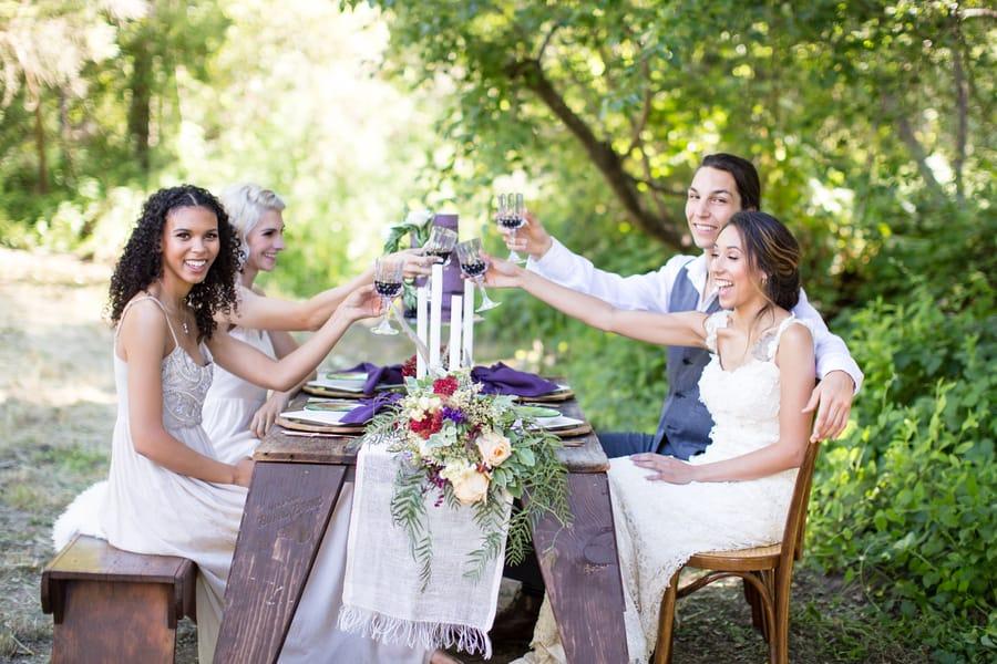 Happy wedding breakfast
