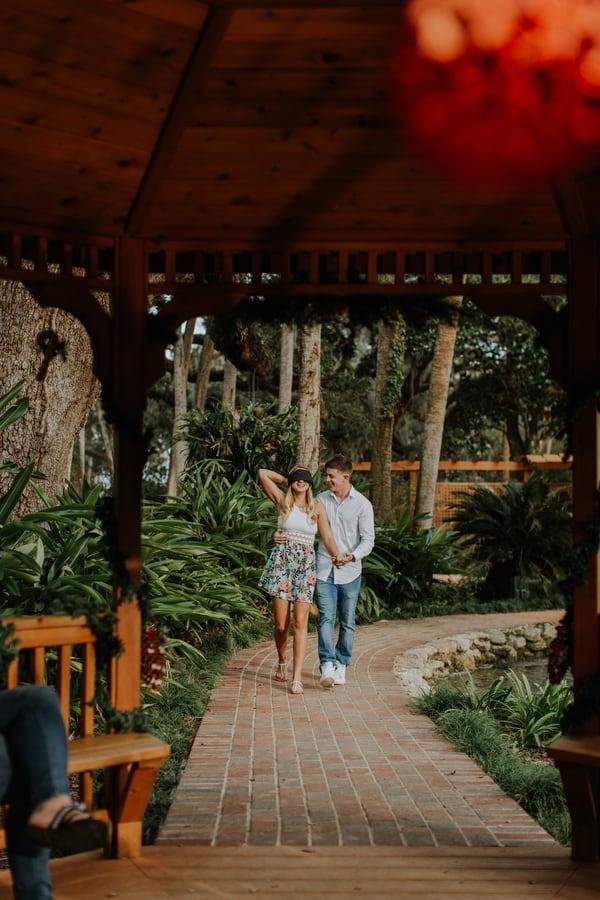 Surprise Christmas Eve Garden Proposal