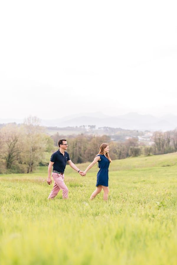 Romantic Field Engagement Shoot