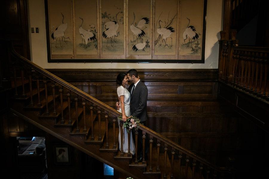 Stair Case Wedding Shot