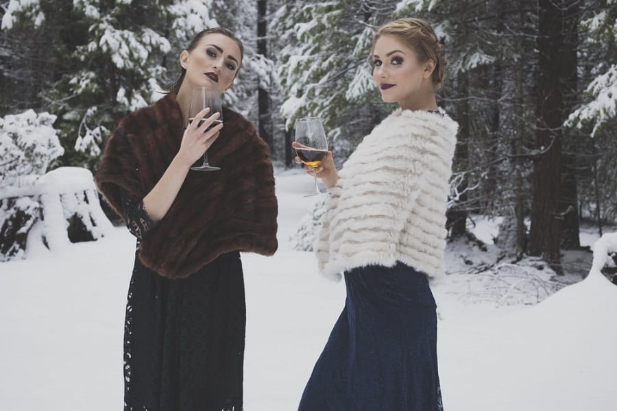 chilly winter bridal shoot