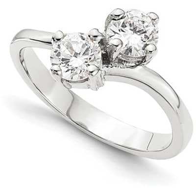 double diamond engagement ring