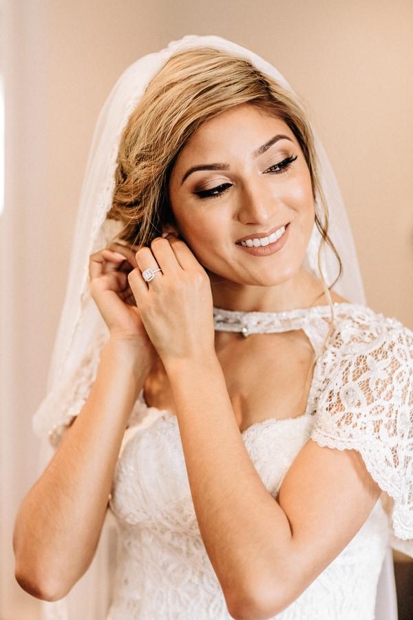 getting ready bridal shot
