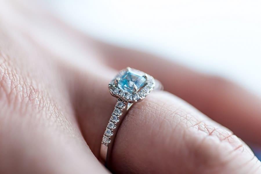 gorgeous engagement ring shot