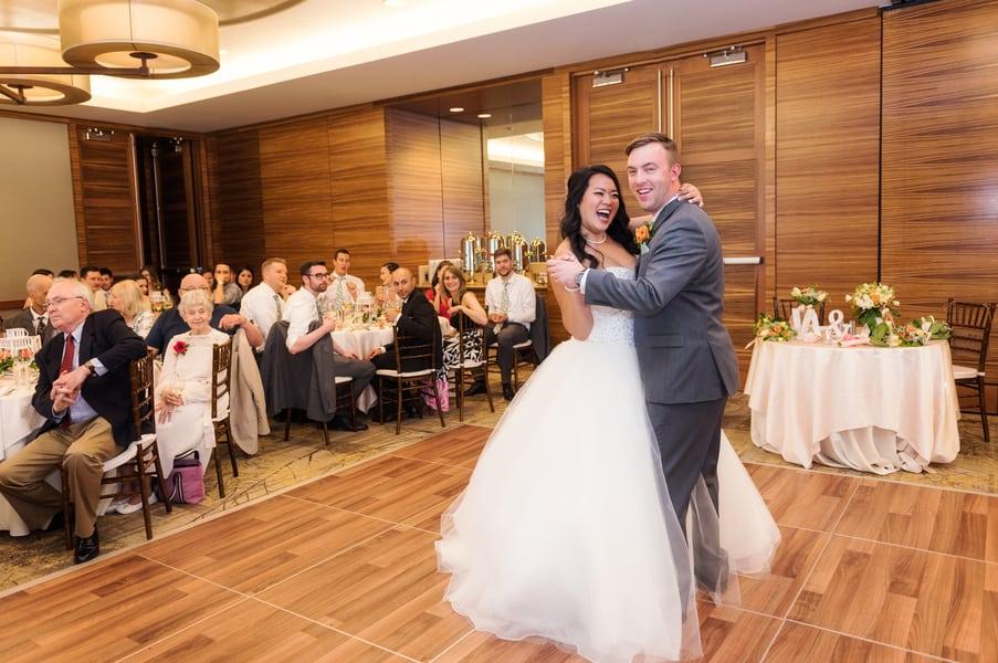 happy wedding dance
