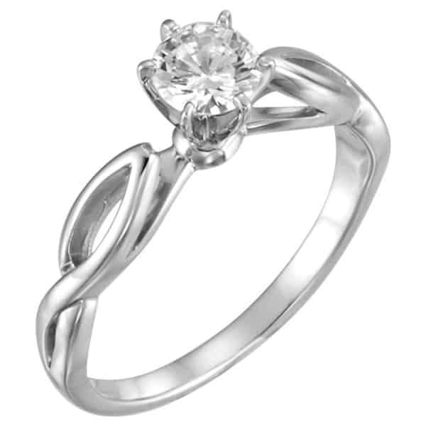 swirly engagement ring