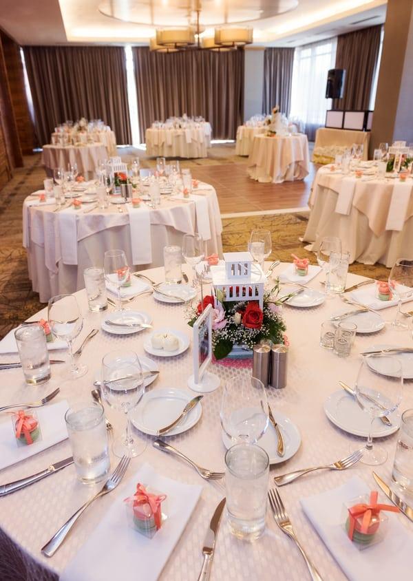 wedding breakfast setup
