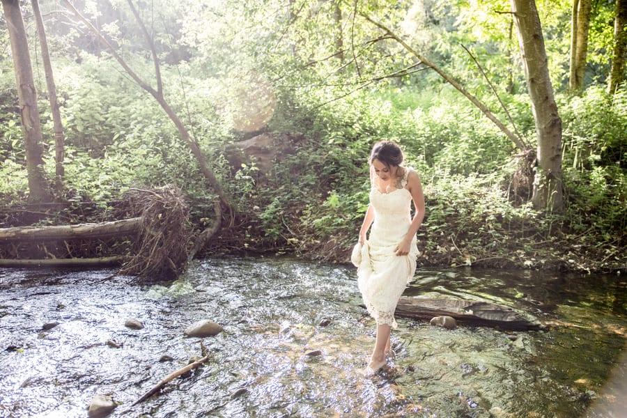 woodland wedding walk