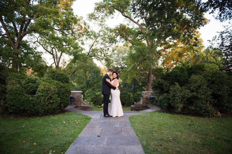 Dramatic wedding shot
