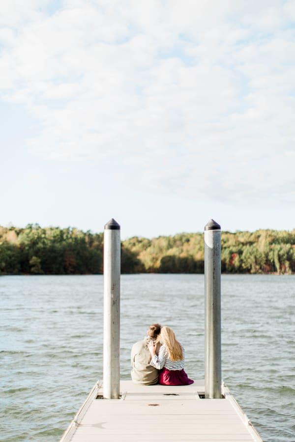 Romantic Lake Norman Engagement Session