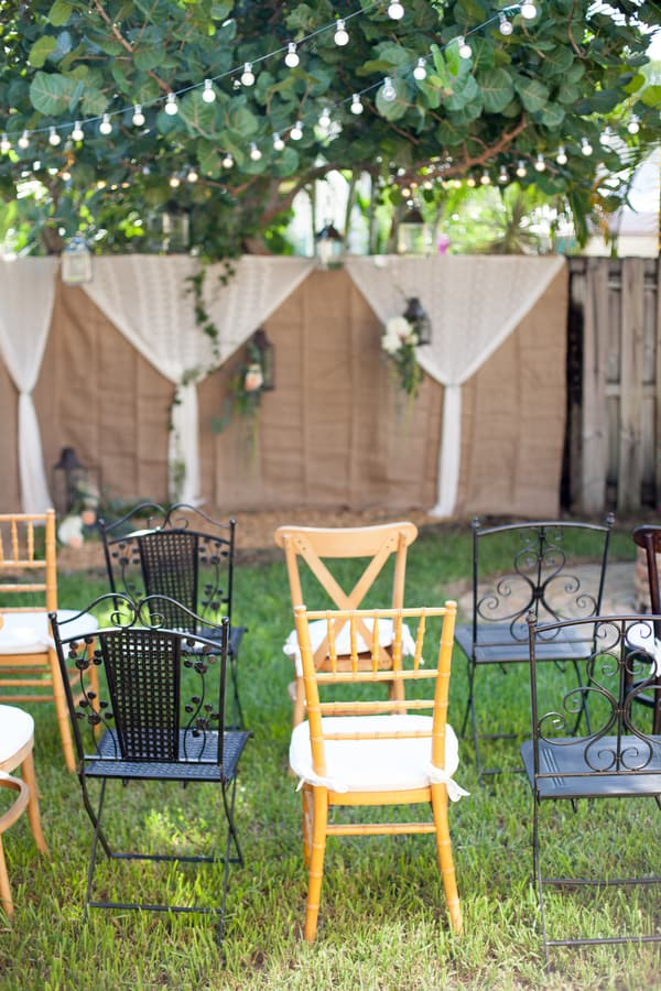 Beautiful Rustic Backyard Wedding