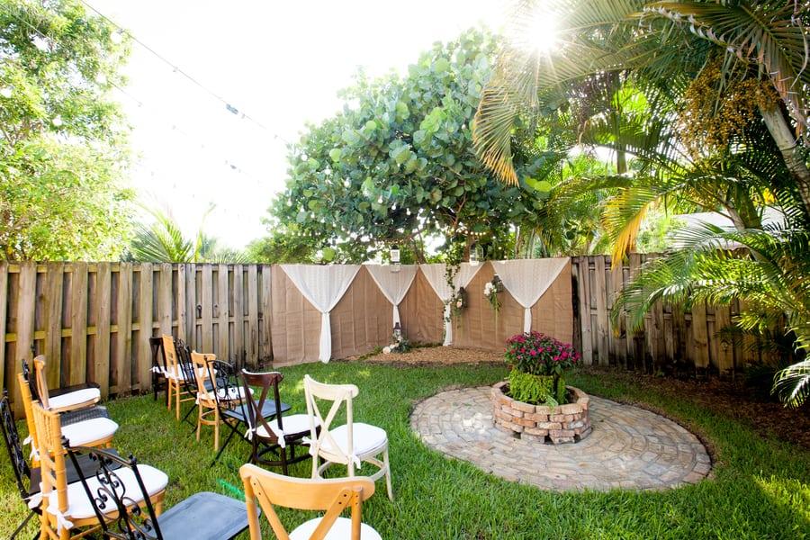Beautiful Rustic Backyard Wedding | Cake & Lace Wedding Blog