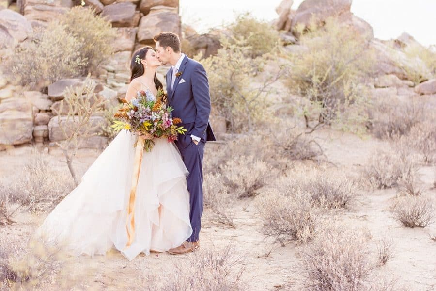 Rocky Desert Wedding
