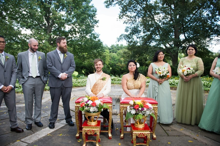 Thai and American fusion wedding