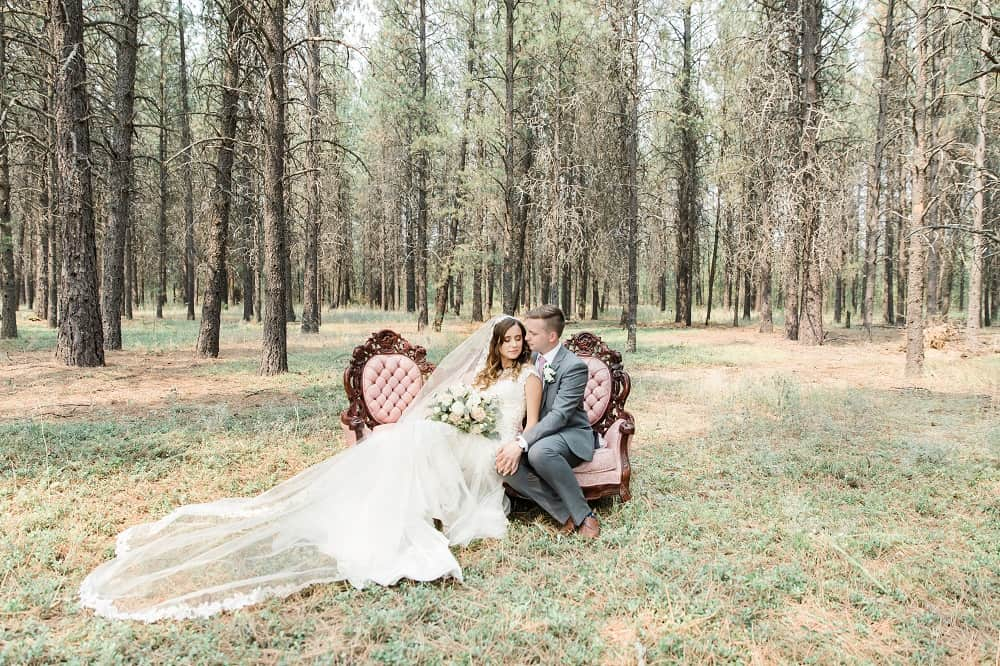 Woodland wedding shoot