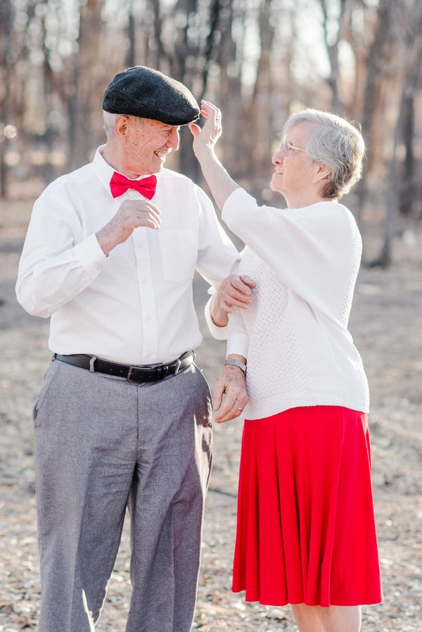 Valentines Photo Shoot with 80 Year Old Couple