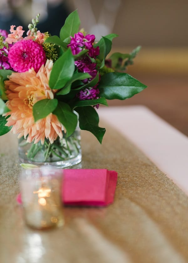 bright floral wedding decor