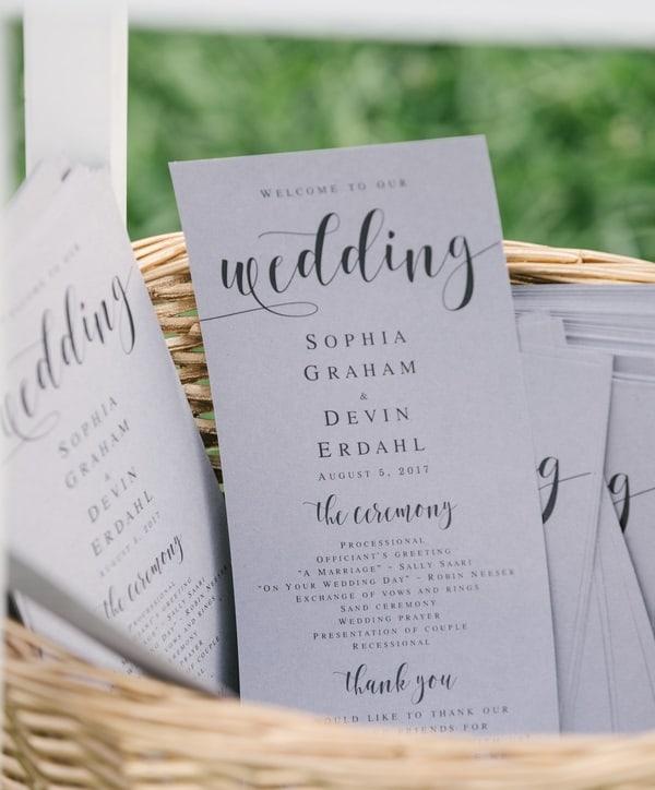 classy wedding stationery