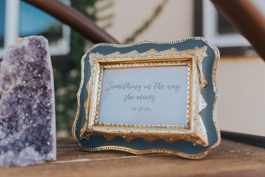 cute wedding signage