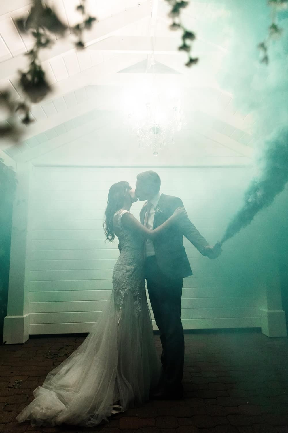 dramatic wedding shot