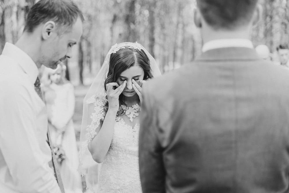 emotional wedding ceremony