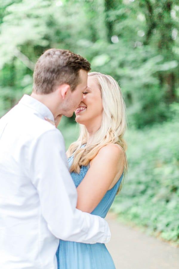 engagement shoot kiss shot