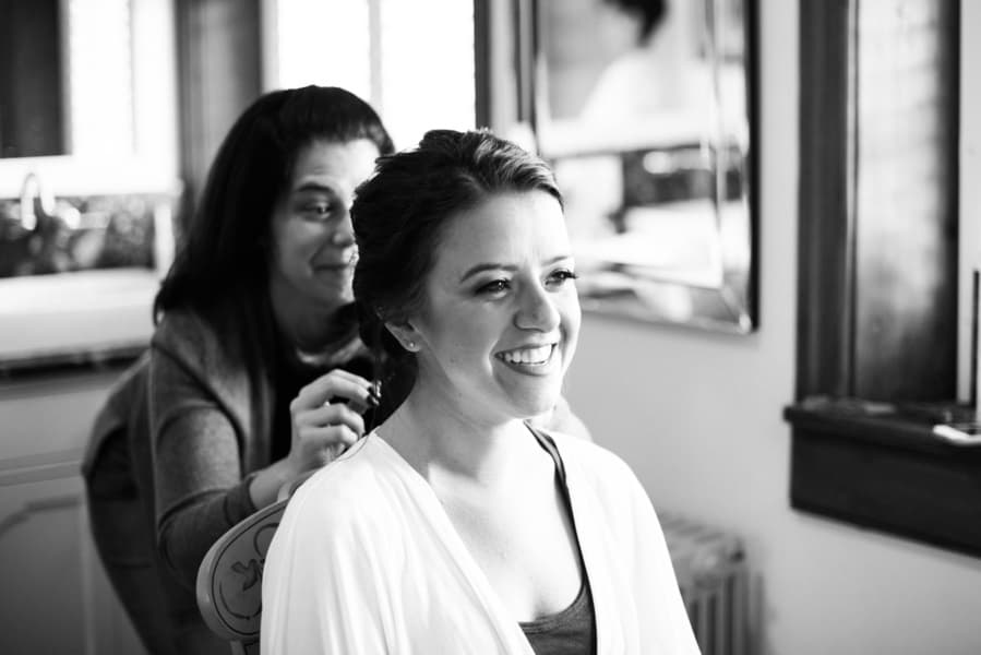 fabulous bridal getting ready shot