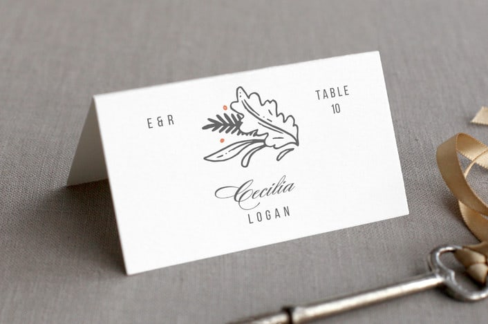 fairytale frame place card example