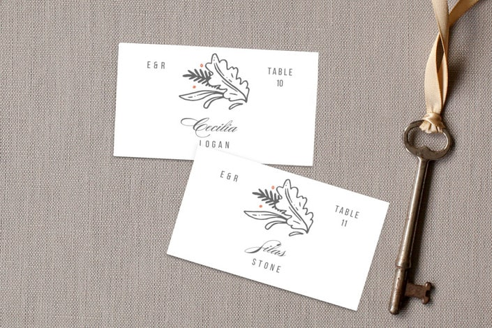 fairytale frame place card