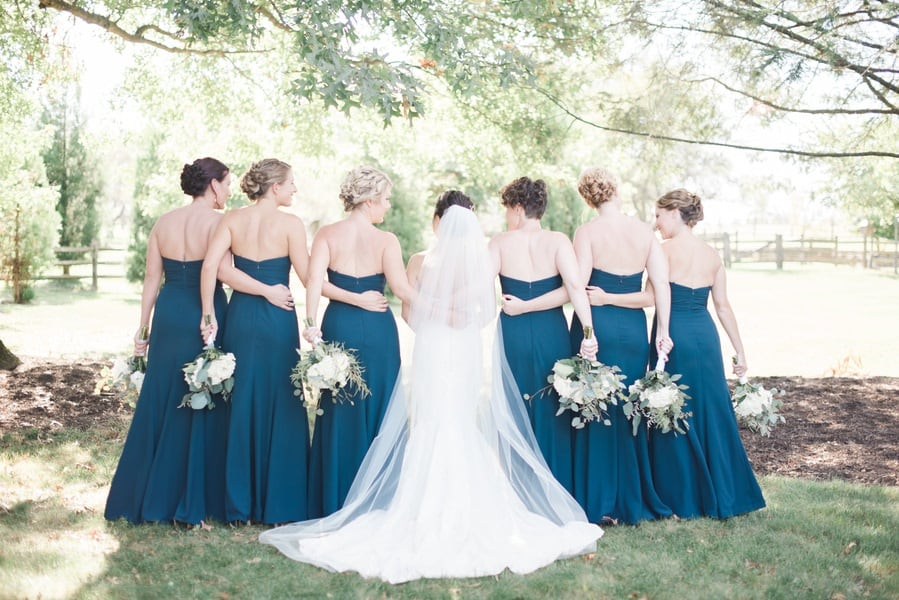 gorgeous bridesmaids dresses and florals