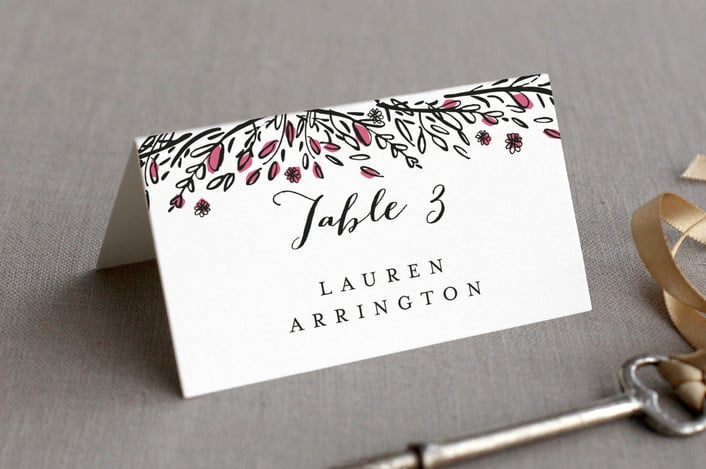 grand meadow place card example