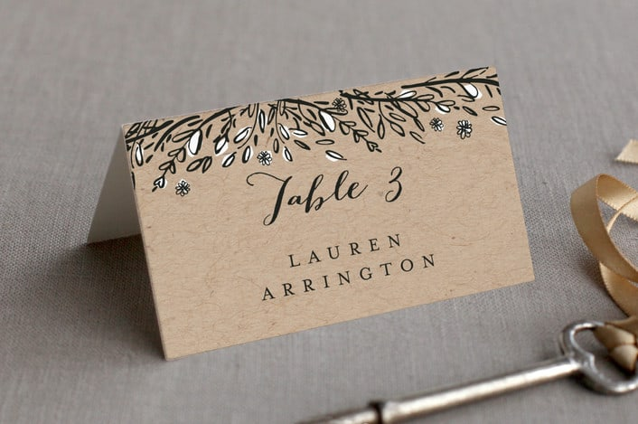 grand meadows place card kraft paper