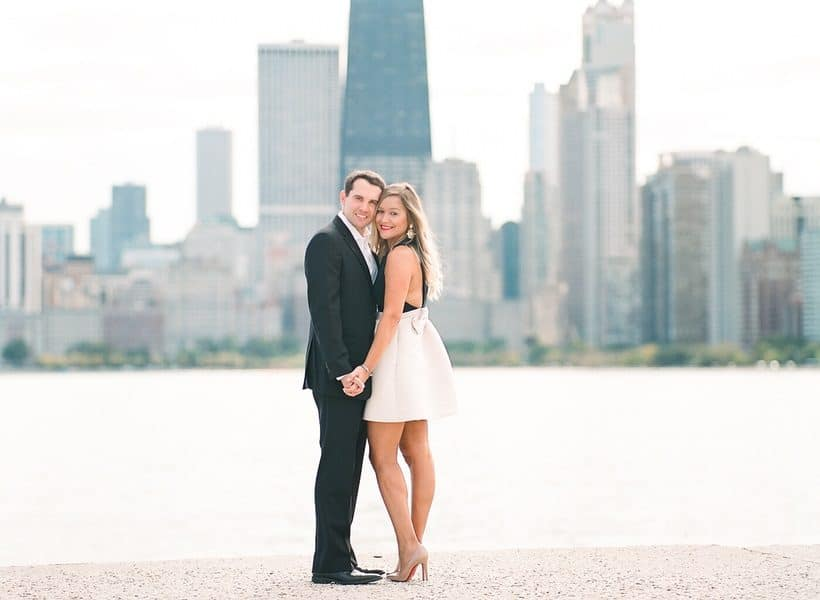 Chicago Skyline Romantic Engagement Session