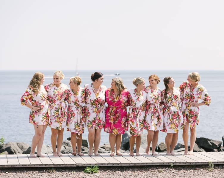 matching bridesmaids gowns