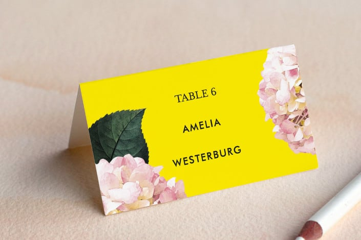 peonie party example place card