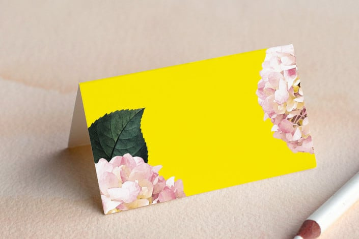 peonie party folded place card