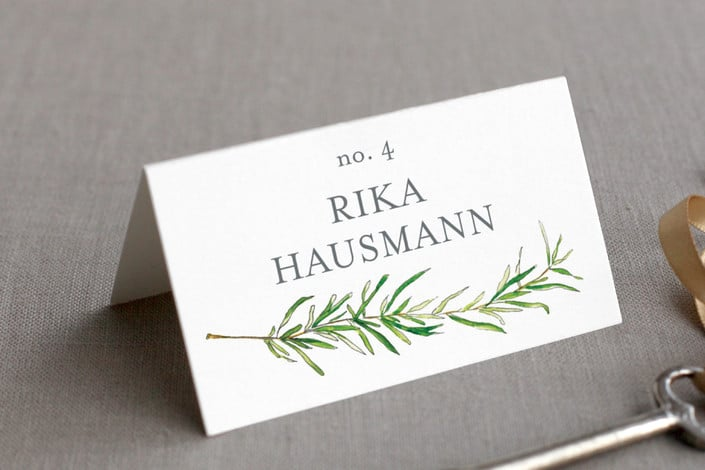 simple sprigs place card example