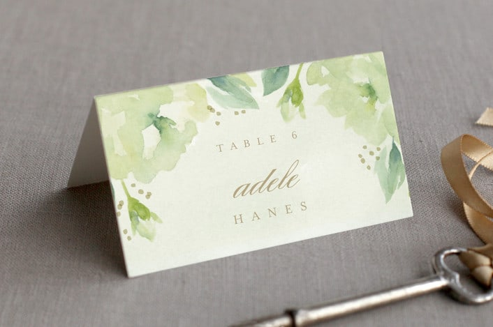 southern garden place cards example
