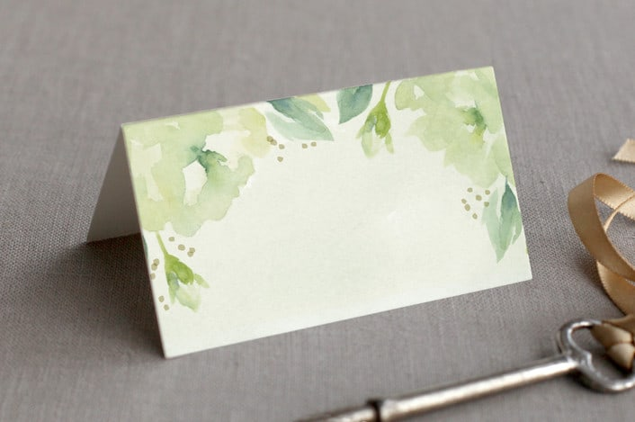 southern garden place cards folded
