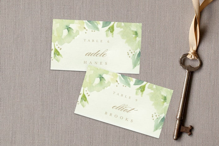 southern garden place cards