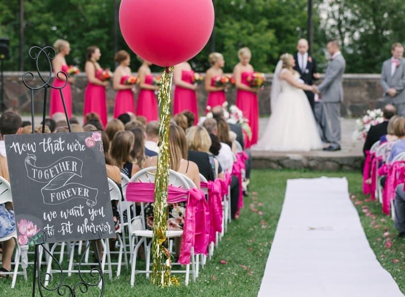 the most gorgeous wedding ceremony