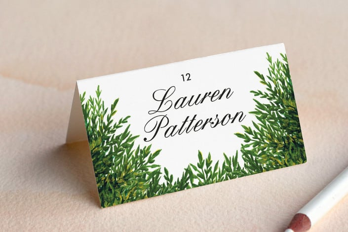 the garden wedding place card example