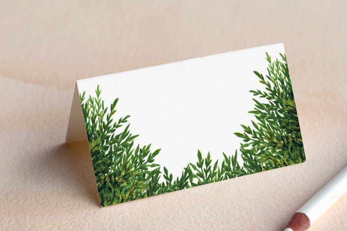 the garden wedding place card folded