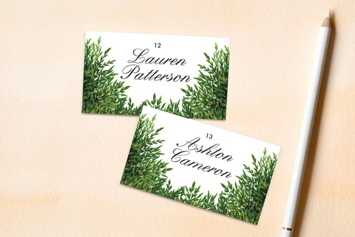 the garden wedding place card
