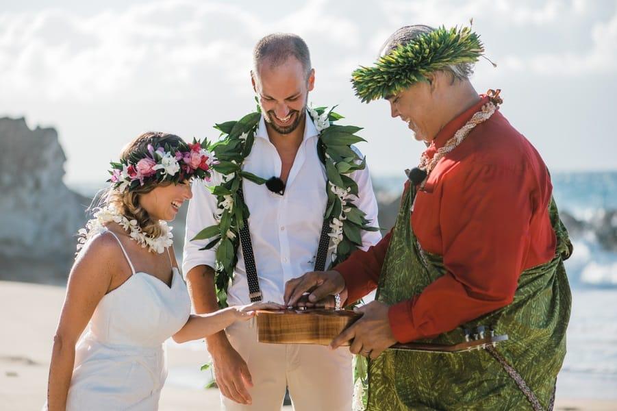 wedding rings and a ukulele