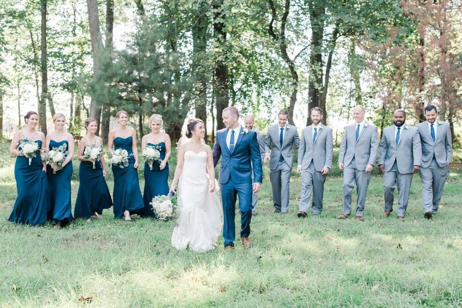 Classic and Elegant Navy Ranch Wedding