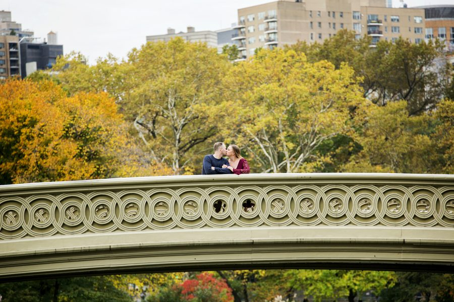 Central Park in Fall Engagement Session