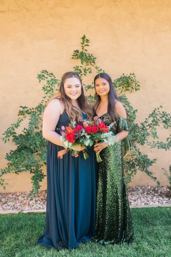 autumnal bridesmaids dresses