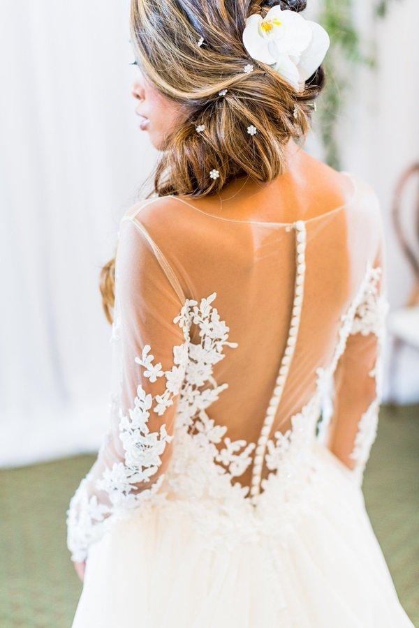 back of wedding bodice