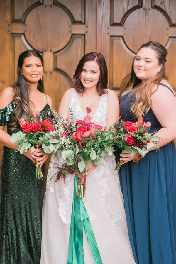 bridal party together